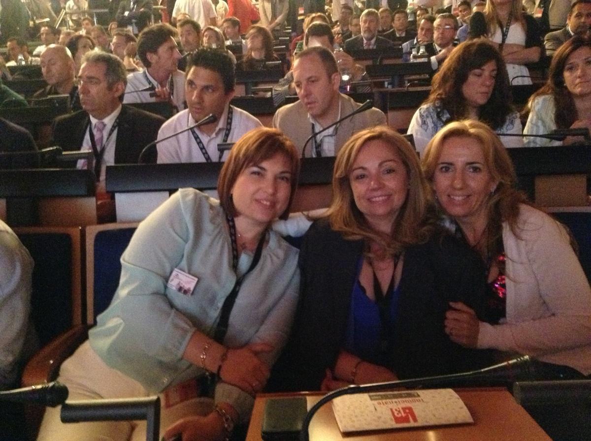 con Ana Valle de Torrevieja y Yolanda Molins de Burjassot