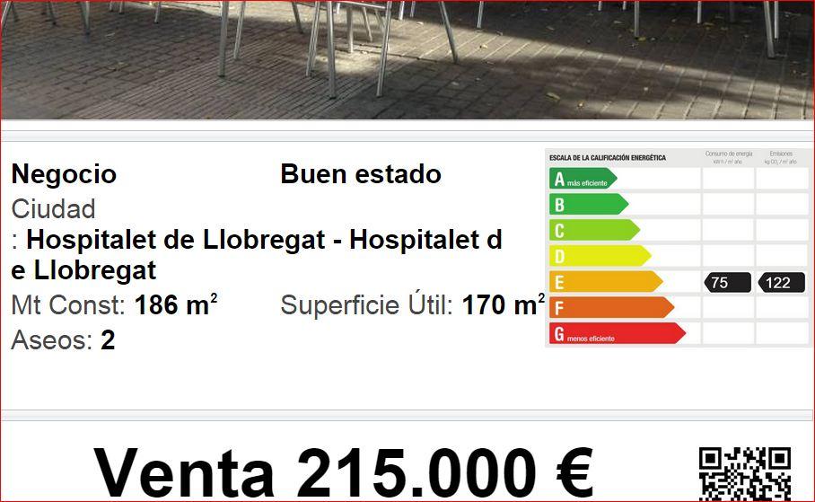 hospitalet restaurante venta